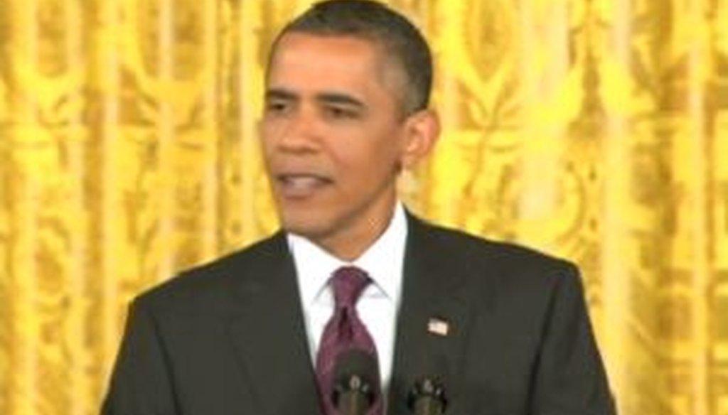 President Barack Obama held a news conference on June 29, 2011, promising regulatory reforms
