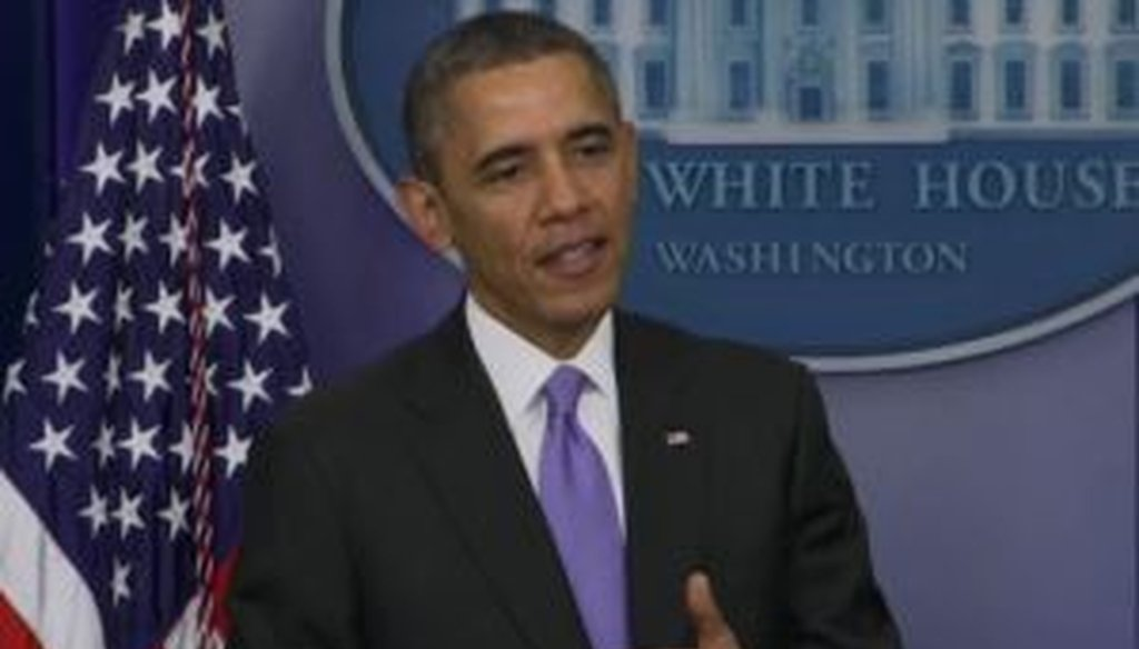 President Barack Obama was asked about winning PolitiFact's Lie of the Year at a press conference, but he didn't reveal much about how he felt.