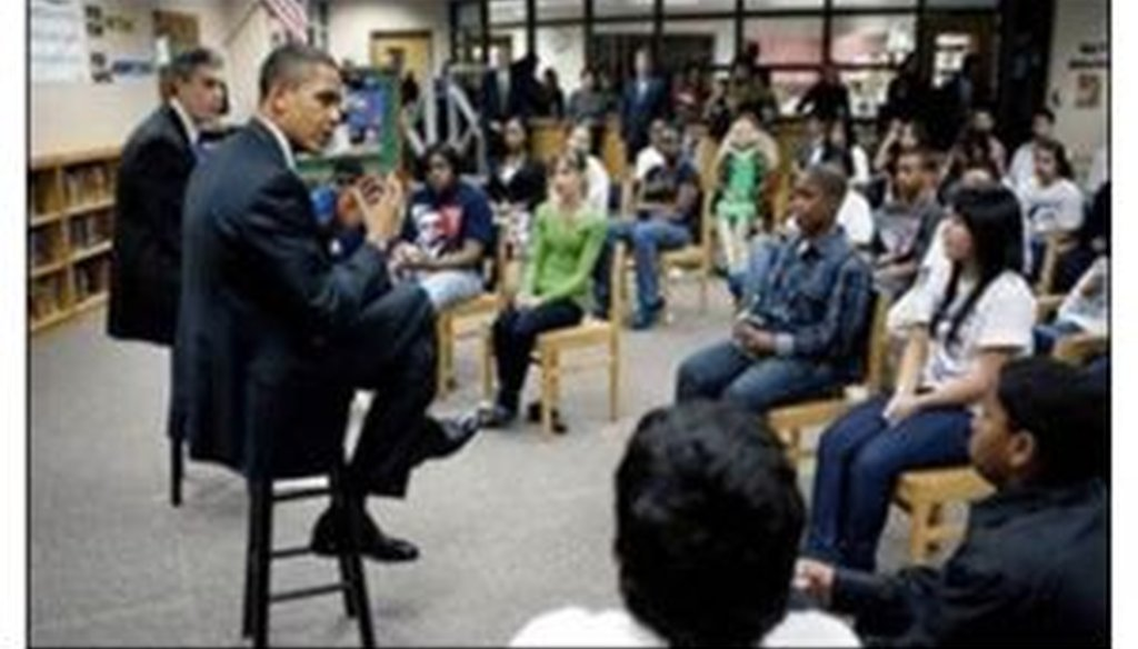 Did a student tell President Barack Obama to solve gun violence by stopping his clapping?