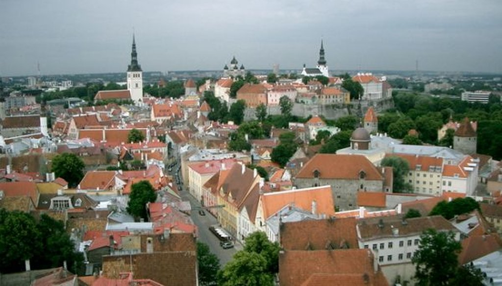 Old Town in Tallinn, Estonia, where filing your taxes takes five minutes -- if that. (Wikimedia commons/WikedKentaur)