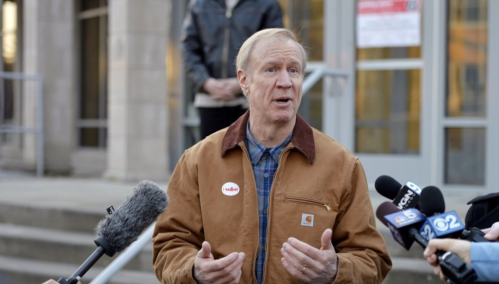 Illinois governor Bruce Rauner. (Photo by Brian Kersey/Getty Images)