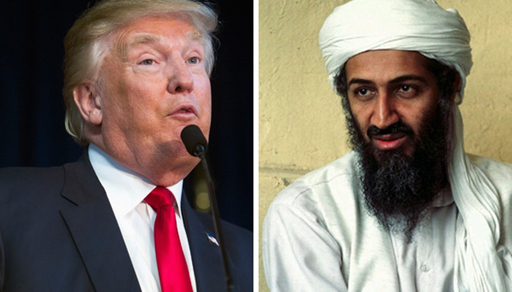 Donald Trump says he was among the first to recognize the danger posed by Osama bin Laden
