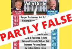 "The fact-checker's guide to a viral ""voter guide"" contrasting Joe Biden, Donald Trump"