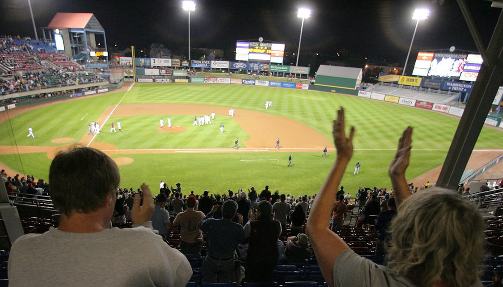 PawSox fans cheer at McCoy Stadium during the final game of the 2012 season. (Providence Journal/Glenn Osmundson)