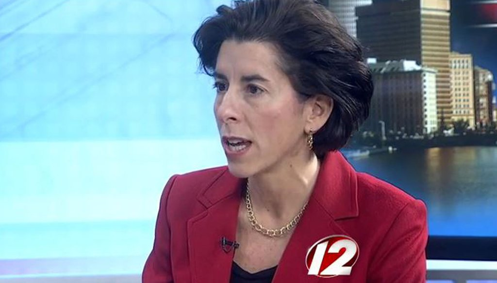 "Rhode Island Gov. Gina Raimondo on the March 13, 2015, edition of WPRI-TV's ""Newsmakers."""