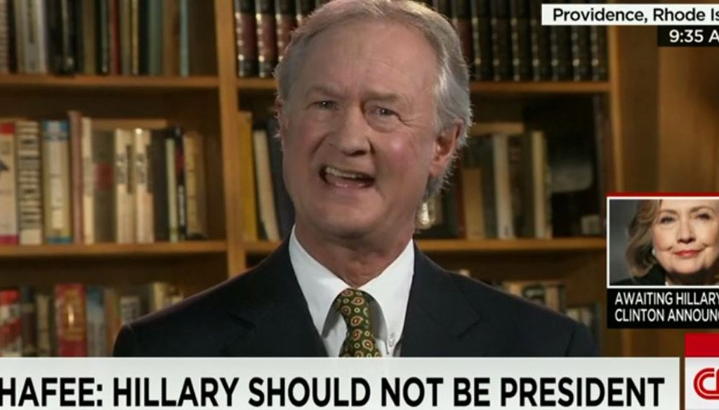 Former R.I. Gov. Lincoln Chafee on CNN April 12, 2015, explains why he would make a good presidential candidate.