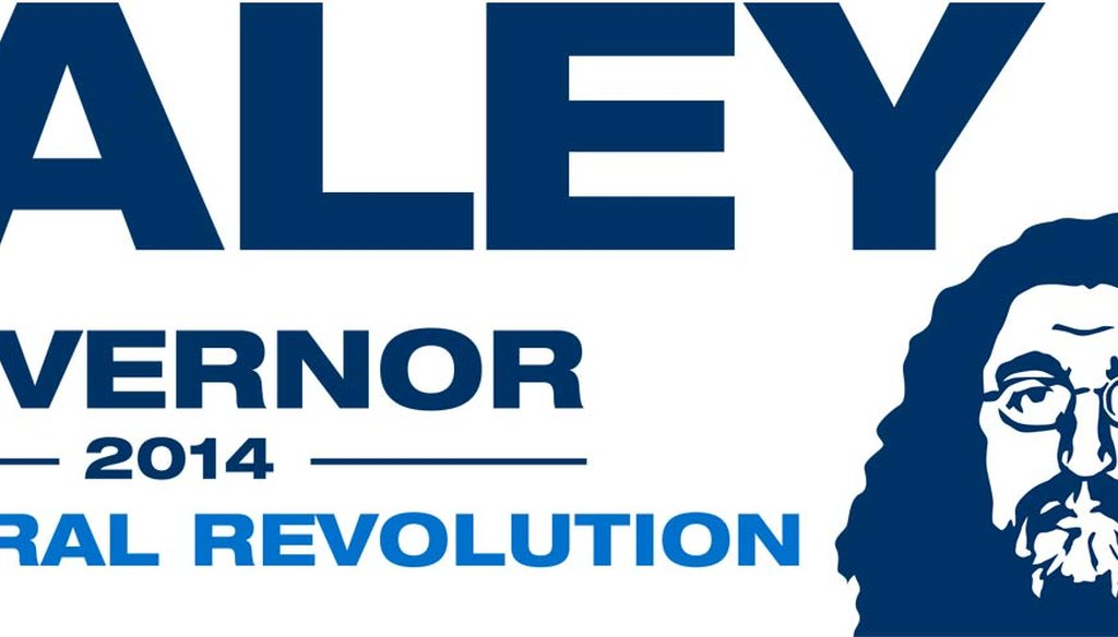 Copy of a bumper sticker supporters could print from Robert Healey's website.