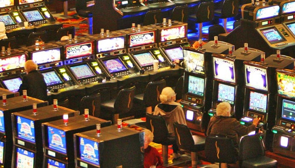 Gamblers on the floor of the Twin River casino. - Providence Journal file photo