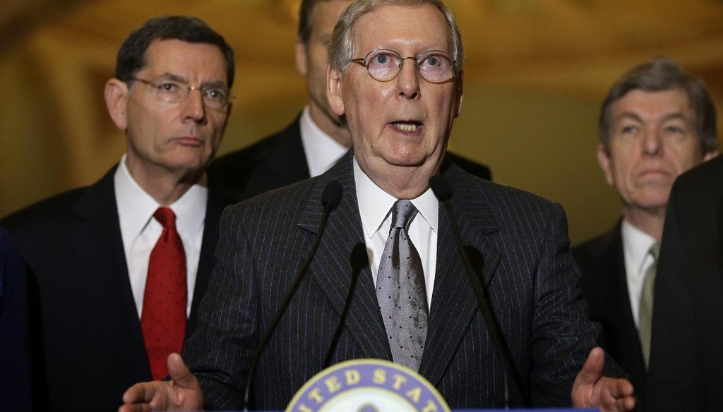 Senate Majority Leader Mitch McConnell, R-Ky., promised a new era of inclusion in the Senate. Has the GOP-led Senate really allowed more amendment votes than Harry Reid in all of 2014? (Getty)