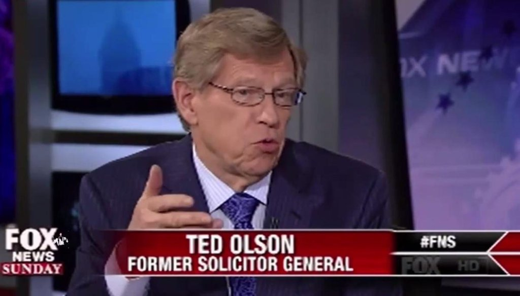 "Ted Olson explains why he supports the legality of same-sex marriage on ""Fox News Sunday"" on Jan. 18, 2015."