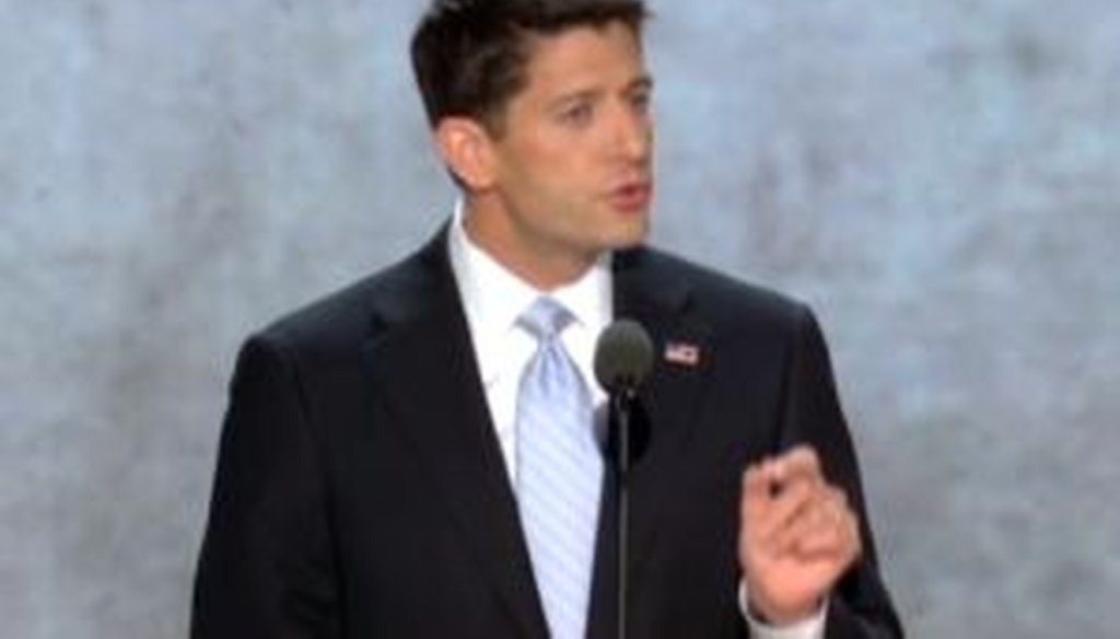 Paul Ryan accepts the vice presidential nomination at the Republican National Convention in Tampa.