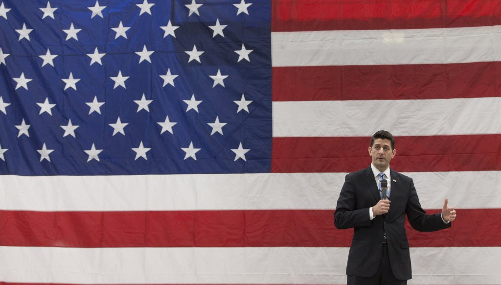 House Speaker Paul Ryan, shown here visiting a New Berlin, Wis., factory, says 70 percent of Americans believe the country is on the wrong track. (Milwaukee Journal Sentinel photo)
