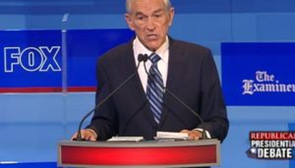 Rep. Ron Paul, R-Texas, was one of eight presidential candidates to take part in the Aug. 11, 2011, debate in Ames, Iowa.