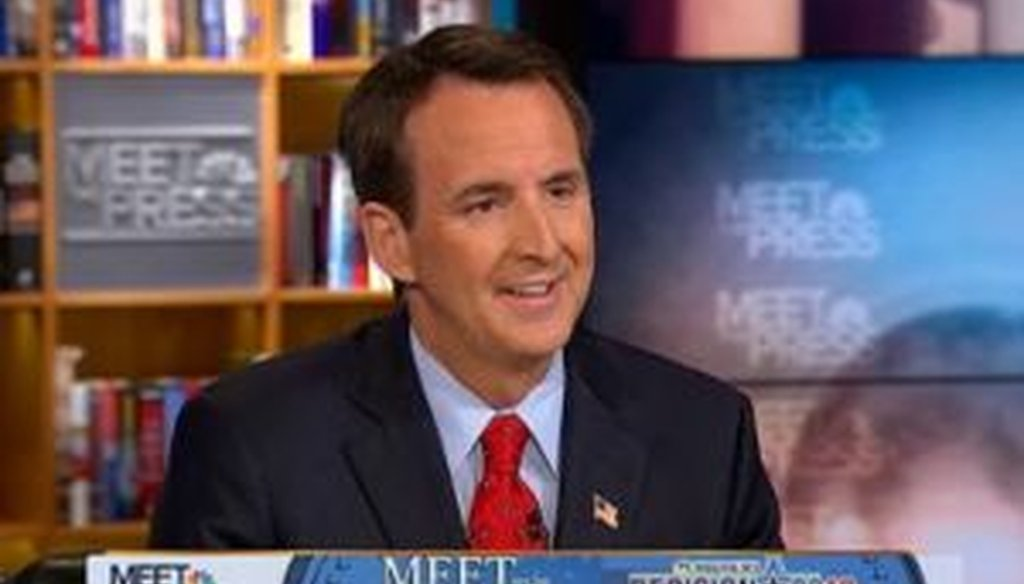 "During an interview on ""Meet the Press,"" Republican presidential candidate Tim Pawlenty discussed the science behind what causes homosexuality. We fact-checked two of his statements."