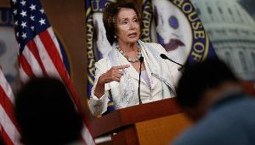 House Minority Leader Nancy Pelosi, D-Calif., answers questions during her weekly press conference at the U.S. Capitol on July 10, 2014.