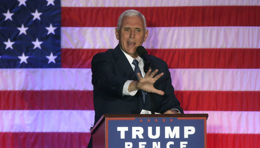Mike Pence, the Republican vice presidential nominee