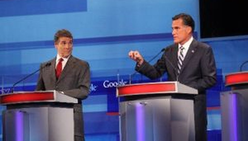 Rick Perry and Mitt Romney sparred once again over Social Security at a Republican debate in Orlando. Did Perry advocate moving Social Security back to the states, or not?