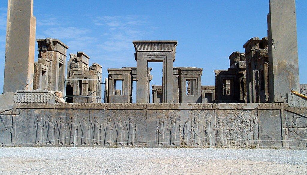 Tachara palace at Persepolis in Iran. (Wikimedia Commons)