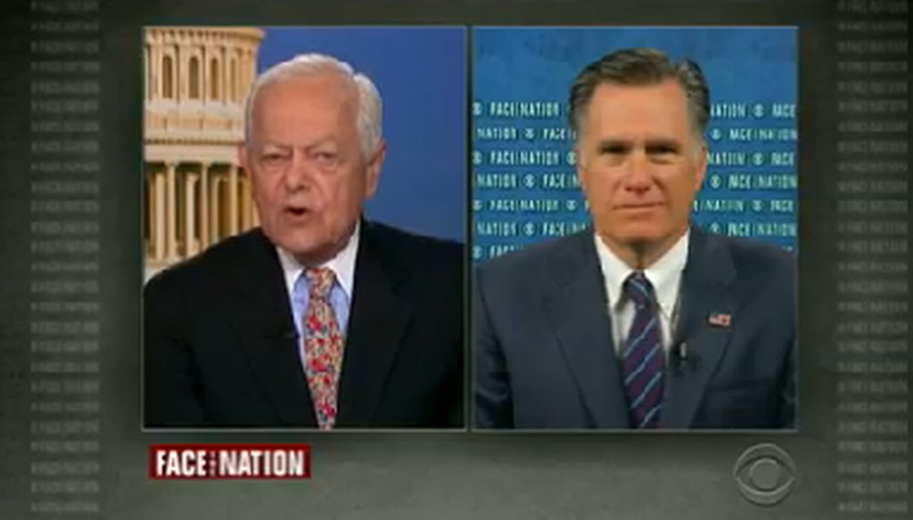"Mitt Rommey appeared on CBS' ""Face the Nation"" on March 23, 2014."