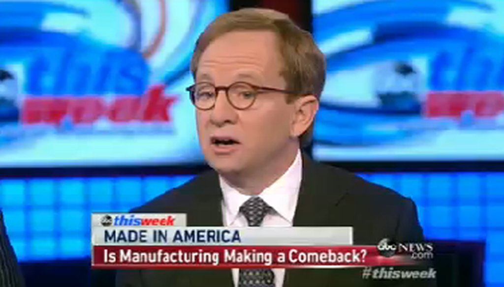 "Steven Rattner appeared on ABC's ""This Week."""