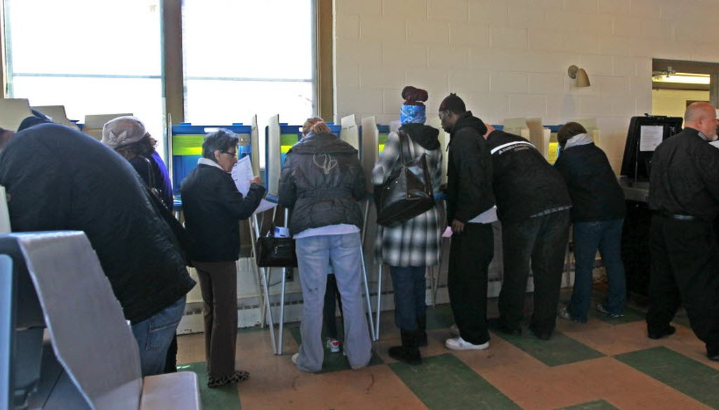 Voters at a polling place in Milwaukee cast their ballots in the April 5 election, which featured the state's presidential primary.