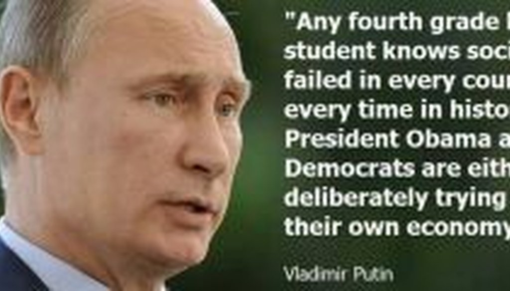 This meme has been circulating on social media. Is that really what Vladimir Putin said about President Barack Obama?