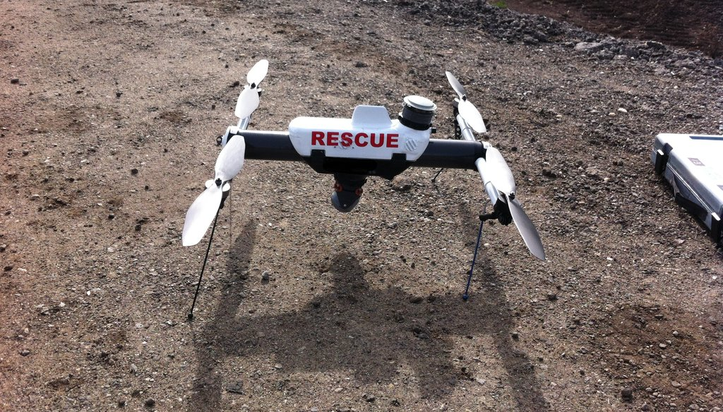 AeroVironment says it's Qube drone can hover and transmit live video and metadata to a tablet controller as part of search and rescue operations, and is used to study the inside of active volcanos and monitor tsunami debris.