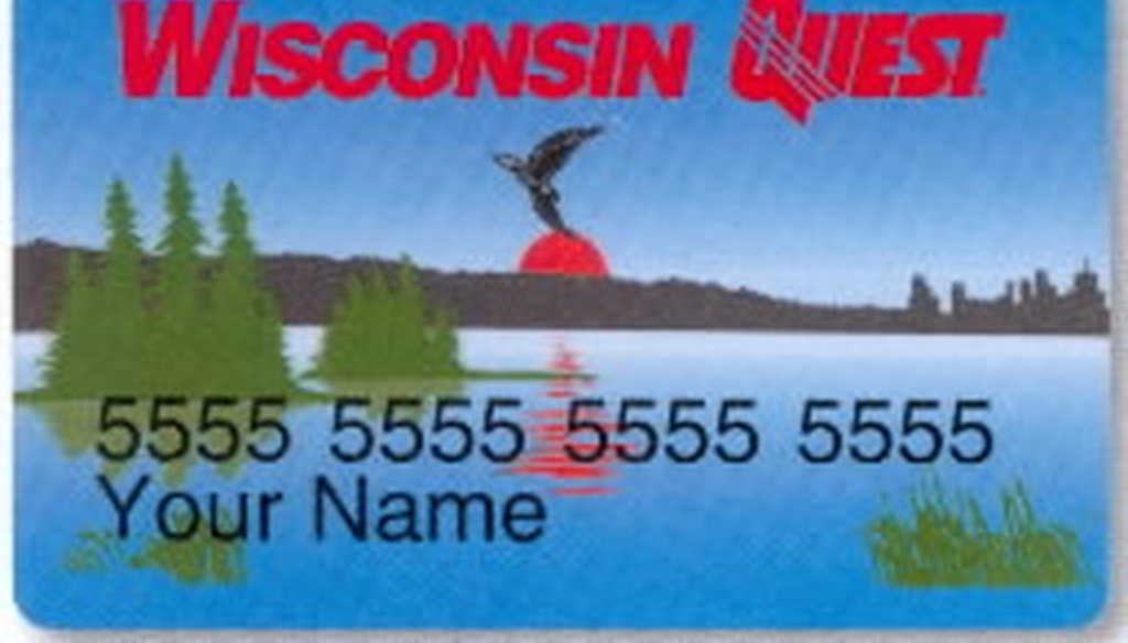 In Wisconsin, food stamp recipients use a Quest card to buy food.