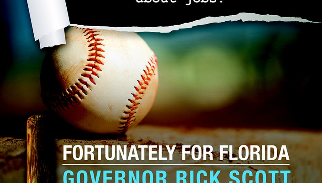 The Republican Party of Florida greeted President Barack Obama to Jacksonville with an ad touting Gov. Rick Scott's port policy.