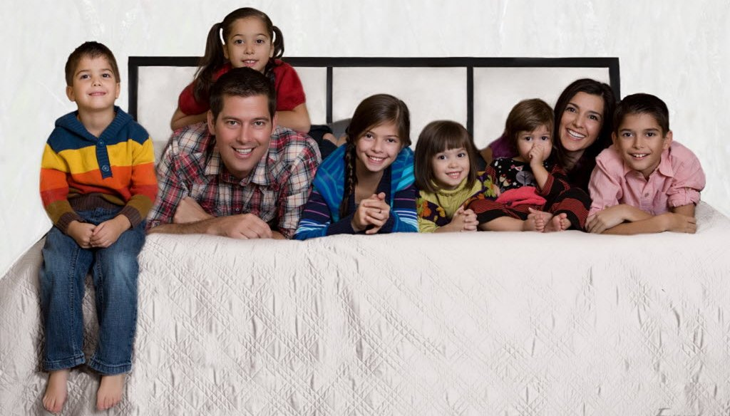 Rachel Campos-Duffy is shown in this undated photo of her family, including her husband, U.S. Rep. Sean Duffy. A claim by Campos-Duffy about ultrasounds and abortion got the most page views at PolitiFact Wisconsin in July 2013.