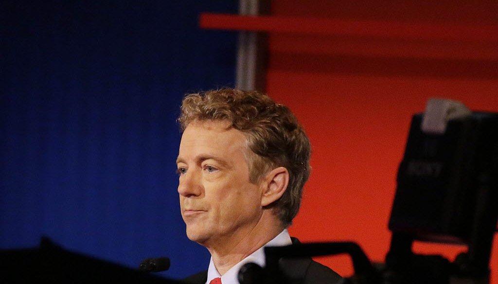 U.S. Sen. Rand Paul of Kentucky prepares for the Republican presidential debate in Milwaukee on Nov. 10, 2015. (Mark Hoffman photo)