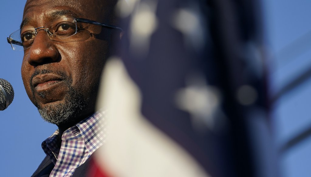 The Rev. Raphael Warnock's first run for public office was in the 2020 special election for the U.S. Senate seat held by Republican Kelly Loeffler. The two face off in a runoff on Jan. 5, 2021. (AP)