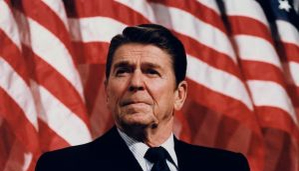 Ronald Reagan is an icon for Republicans. How has Mitt Romney approached his legacy over the years? (Image from National Archives)