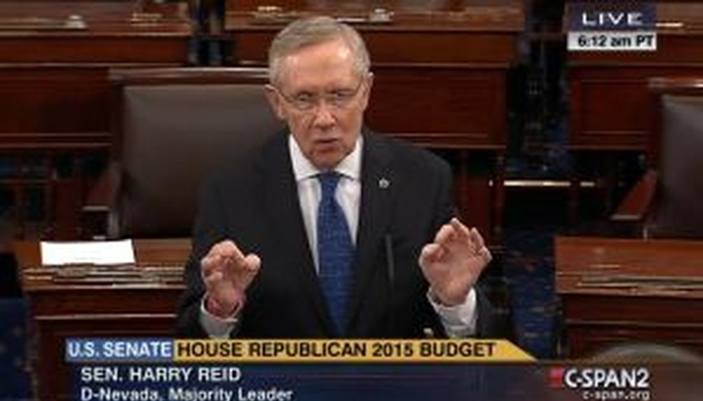 Senate Majority Leader Harry Reid, D-Nev., has taken to the floor to attack industrialists and big-money donors Charles and David Koch. Is Reid's most recent claim accurate?