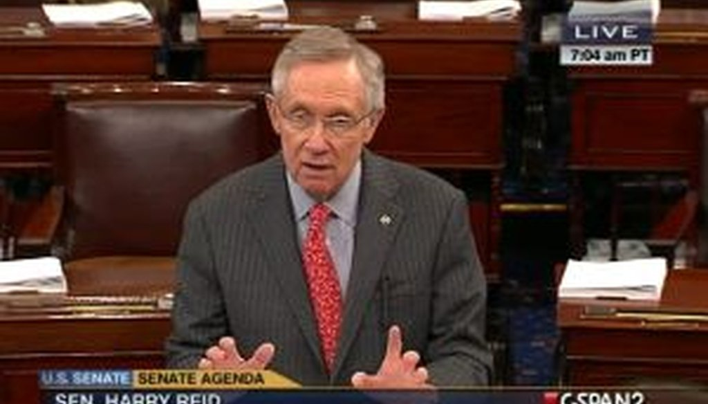 Senate Majority Leader Harry Reid, D-Nev., touted his chamber's role in reducing the deficit. But did he describe the amount of deficit reduction accurately?