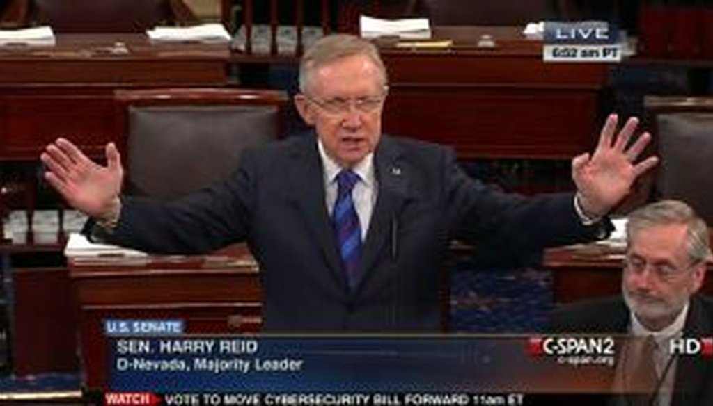 Senate Majority Leader Harry Reid, D-Nev., charged on the Senate floor that Mitt Romney hadn't paid taxes for 10 years, citing an anonymous source who invested in Romney's company, Bain Capital. The allegation drew wide criticism.