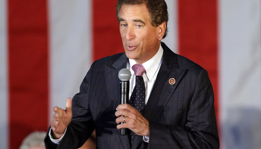 In this Sept. 29, 2014, file photo, U.S. Rep. Jim Renacci, R-Ohio, speaks in Independence, Ohio. Renacci failed to disclose nearly $50,000 in political contributions while registered as a Washington lobbyist starting in the lat