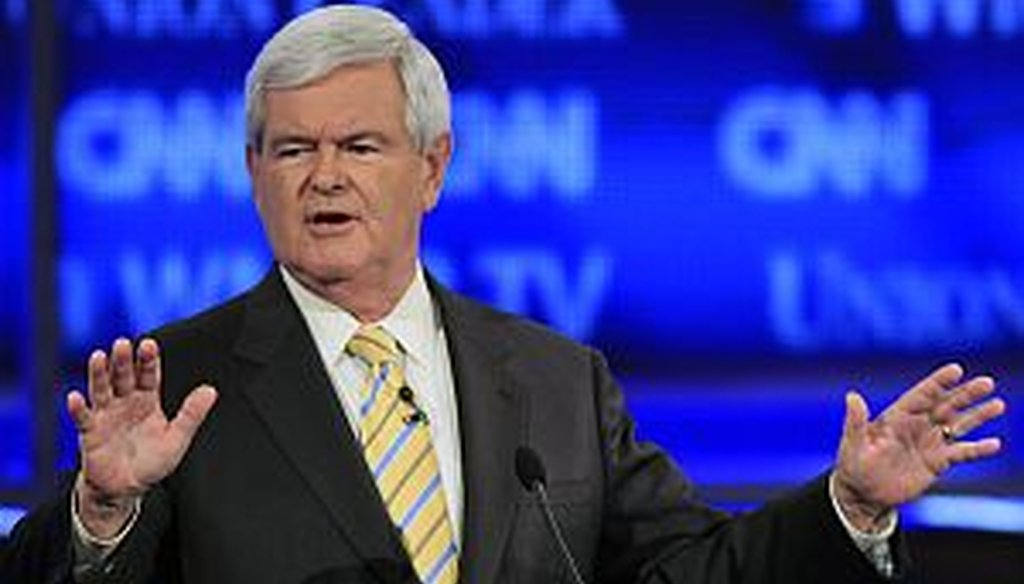 PolitiFact Georgia checked a claim made by Newt Gingrich during Monday's Republican primary debate