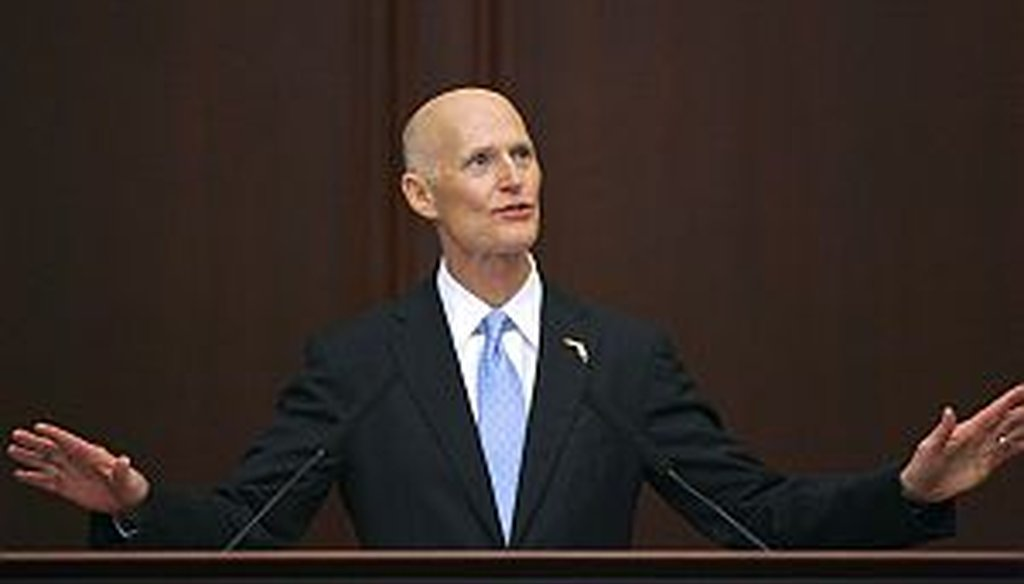 "Rick Scott delivers the ""State of the State"" address on March 5, 2013. (AP Photo)"