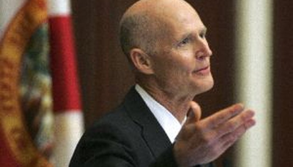 Florida Gov. Rick Scott delivers his 2013 State of the State address in the Florida House of Representatives in Tallahassee.