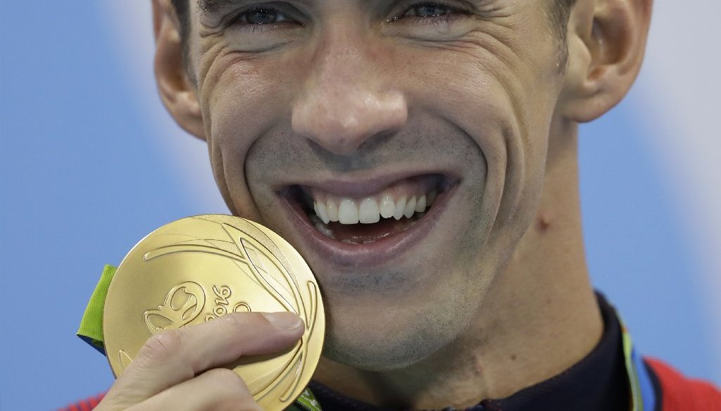 The Rio Olympic gold medal is mostly made of silver. (AP photo)