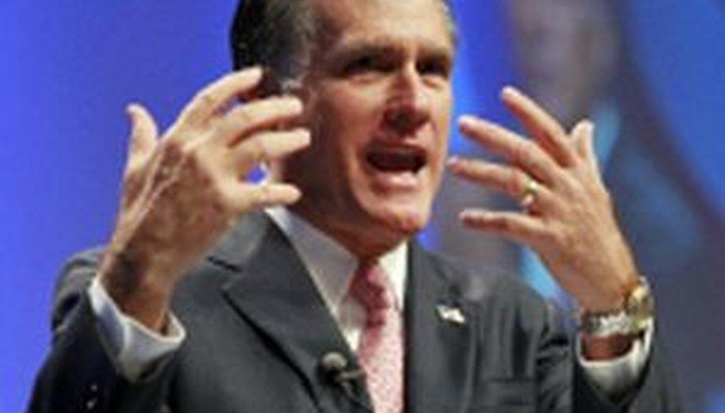 Former Massachusetts Gov. Mitt Romney addresses CPAC.
