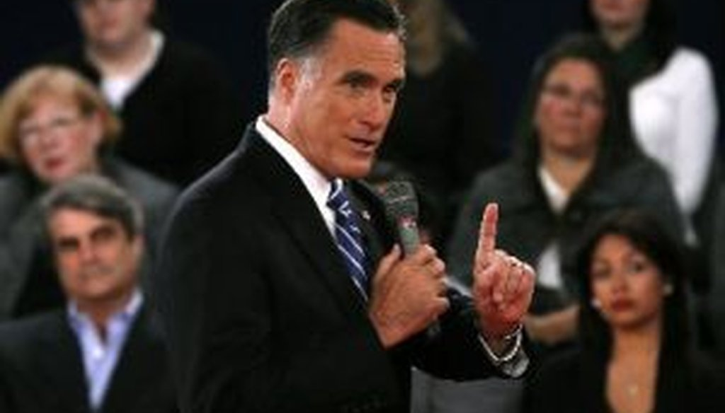 Mitt Romney squared off with President Barack Obama at Hofstra University in the second presidential debate of 2012.