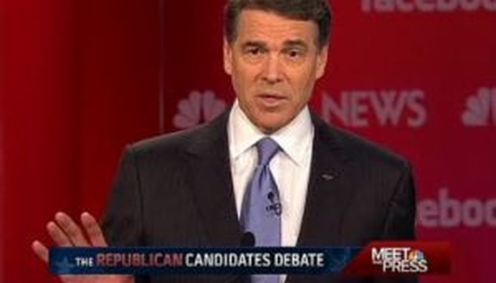 "Texas Gov. Rick Perry called President Barack Obama a ""socialist"" during a Jan. 8, 2012, debate in Concord, N.H."