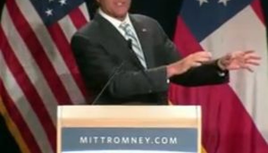 "Speaking in Atlanta on Sept. 19, 2012, Mitt Romney said that ""redistribution"" has ""never been a characteristic of America."""