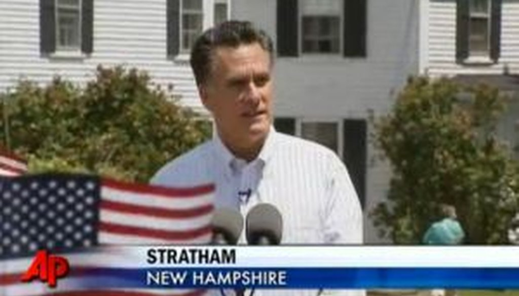 Former Massachusetts Gov. Mitt Romney officially announced his presidential bid on June 2, 2011. We checked some of what he said.