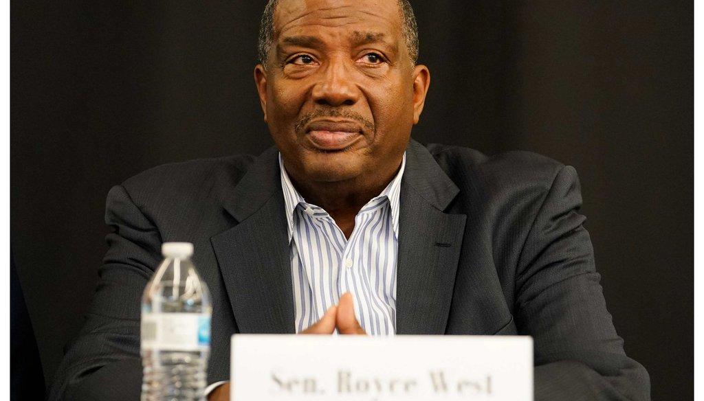 Texas Sen. Royce West during a senate forum.