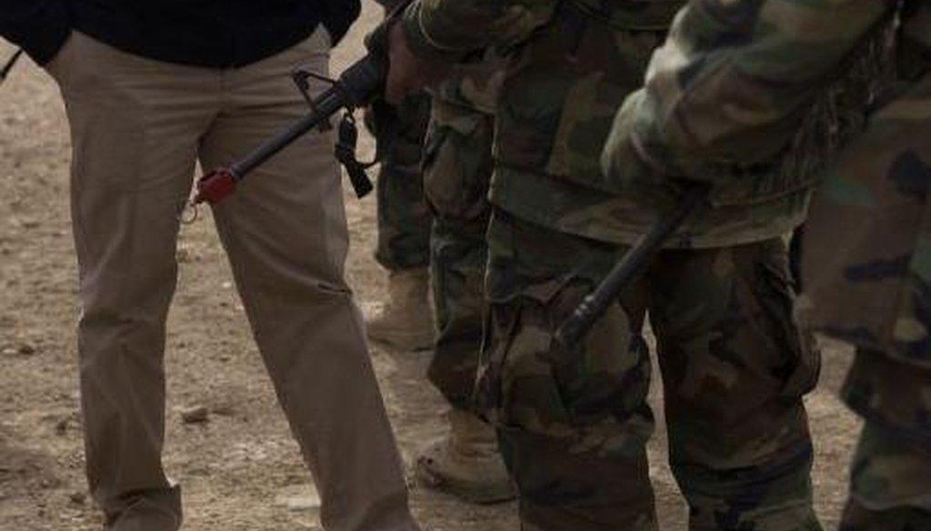 U.S. Sen. Marco Rubio, on a surprise visit to see American troops in Afghanistan.