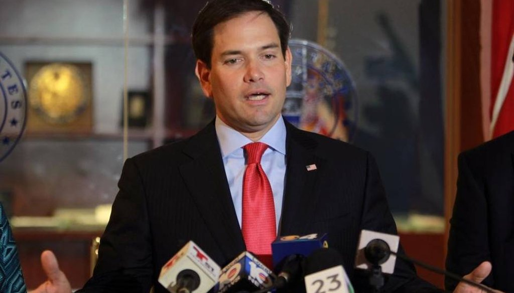 U.S. Sen. Marco Rubio endorsed President Barack Obama's request for $1.9 billion in Zika funding at a press conference in Miami April 8, 2016. (Miami Herald)