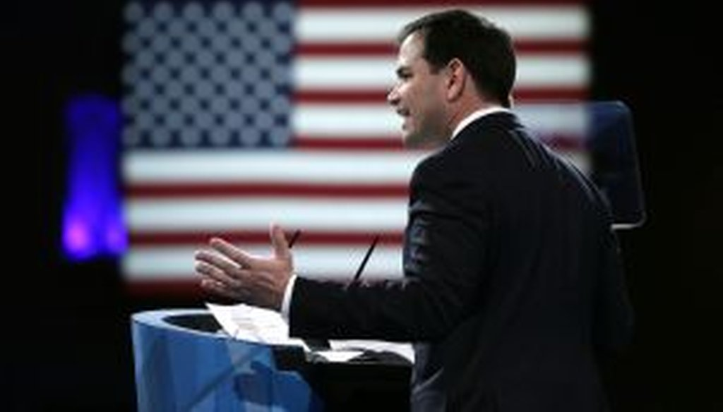 U.S. Sen. Marco Rubio spoke at CPAC on March 14, 2013. (Getty Images)